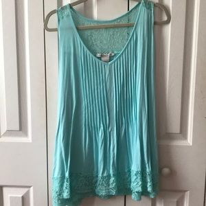 Light Blue Tank Top Plus Size